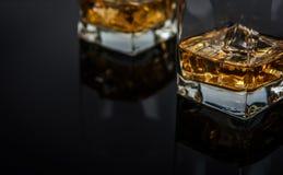 Whisky med is Arkivfoto