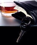 Whisky,money and key Stock Images