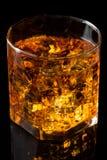 Whisky och is arkivfoto