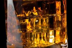 Whisky och is fotografering för bildbyråer