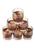 Whisky och is i koppar royaltyfria bilder