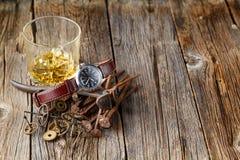 Whisky- och klockakugghjul Fotografering för Bildbyråer