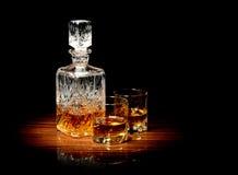 Whisky op een lijst Stock Afbeelding