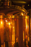 Whisky production. stock image