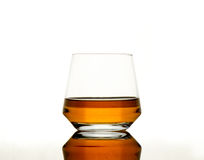 Whisky on reflective tabel Royalty Free Stock Photos