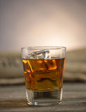 Whisky on the rocks Royalty Free Stock Image