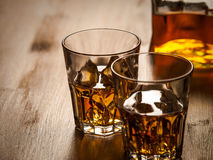 Whisky on the rocks Stock Images