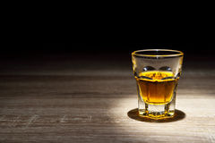 Whisky shot drinks, Alcohol shots, Scotch and alcohol, alcoholic. Drinks, alcohol glasses top view, alcohol glasses of whiskey, alcoholic drink with ice on a Royalty Free Stock Photo