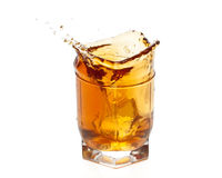 Whisky splash Stock Photos