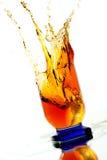 Whisky splash Stock Photos