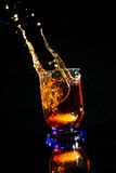 Whisky splash Royalty Free Stock Photos