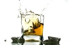 Whisky splash Royalty Free Stock Photography
