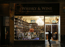 Whisky store Stock Images