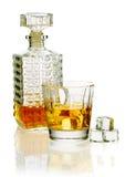 Whisky szkło dekantator i fotografia royalty free