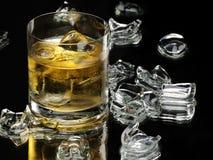 Whisky und Eis Stockfotografie