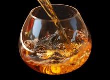 whisky in vetro Immagine Stock