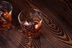 Whisky in vetro Fotografie Stock