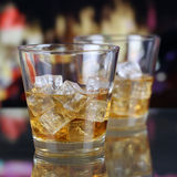 Whisky or Whiskey in a bar Stock Images