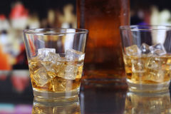 Whisky or Whiskey in a glass Stock Photography