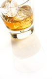 Whisky on white Royalty Free Stock Photos