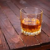 Whisky on wood Royalty Free Stock Images