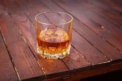 Whisky on wood Royalty Free Stock Photo