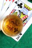Whisky y tarjetas imágenes de archivo libres de regalías