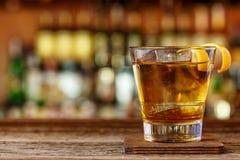 Whisky z ajerkoniaka koktajlem zdjęcie royalty free