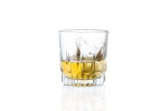 Whisky z lodem Zdjęcia Royalty Free