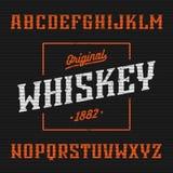 Whiskyaufkleber, Westartguß stock abbildung