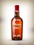 Whiskyetikettuppsättning Royaltyfri Fotografi