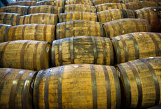 Whiskyfässer Stockfotografie
