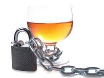 Whiskyglas und -kette Stockbilder