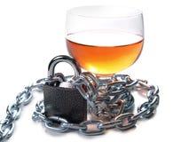 Whiskyglas und -kette Whitverschluß Stockfotos