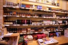 Whiskyshop in Schottland Stockfotografie