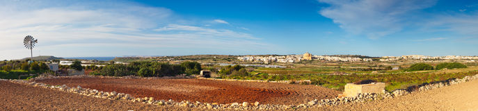 Whisper Bay panorama, Malta Royalty Free Stock Photography
