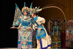 """Whisper to intercede- Beijing Opera"""" Women Generals of Yang Family"""". This opera tells a patriotic story how does an old woman of a hundred years old Royalty Free Stock Image"""