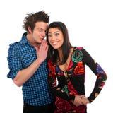 Whispered couple Royalty Free Stock Photo