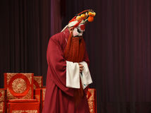 """Whispered a prayer- Beijing Opera"""" Women Generals of Yang Family"""". This opera tells a patriotic story how does an old woman of a hundred years old go Royalty Free Stock Images"""
