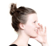 Whispering Royalty Free Stock Photography