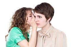 Whispering Stock Image