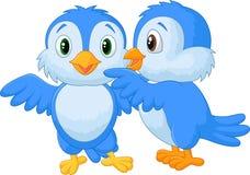 Whispering bird cartoon Stock Photo