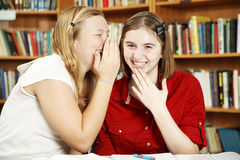 Whispering in Class Stock Photography