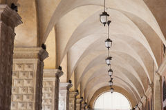 Whispering Gallery beneath the Palazzo del Podesta Palace, Bolog Royalty Free Stock Image