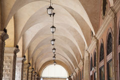 Whispering Gallery beneath the Palazzo del Podesta Palace, Bolog Stock Image