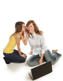 Whispering girls Stock Photos