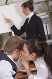 Whispering In Conference Stock Image