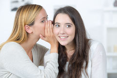 Whispering secret to friend Royalty Free Stock Photography