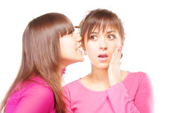 Whispering shocking news Stock Photography