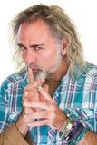 Whispering Sly Man Stock Image